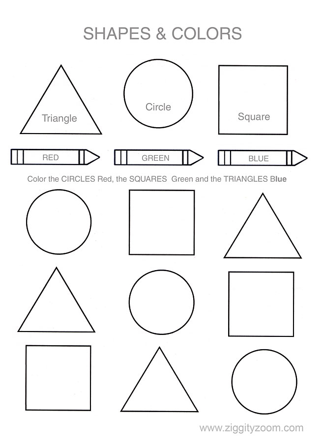 Help your child or class learn their shapes and colors. This basic ...