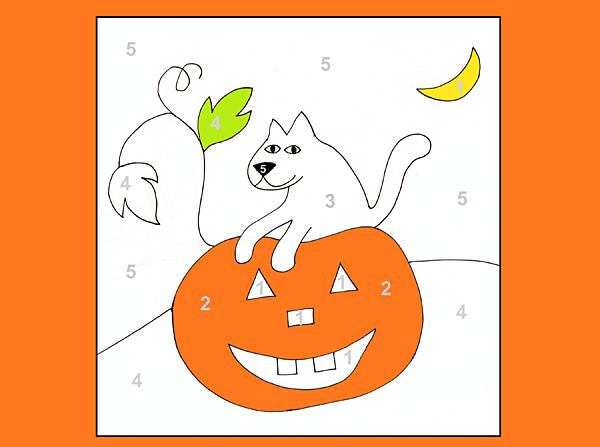 Free Worksheets 187 Color By Number Pumpkin Free Math Color By Number Pumpkin