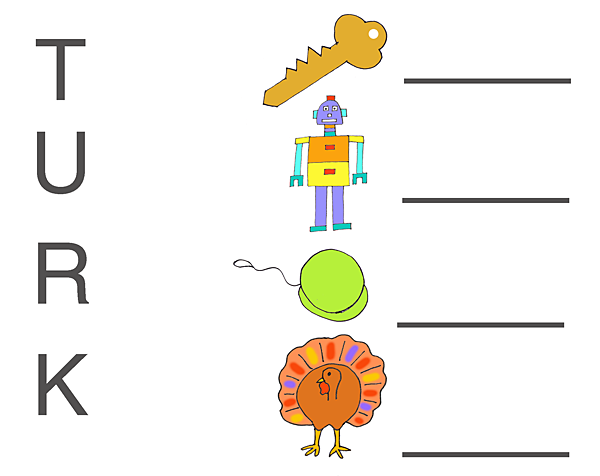 math worksheet : turkey matchup 600  : Pre Kindergarten Worksheet