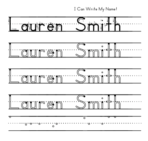 Help Preschoolers Learn To Write Their Name National