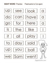 SuperHeros Sight Words Worksheets
