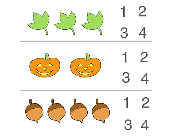 Numbers National Kindergarten Readiness. Fall Counting Preschool Worksheet. Preschool. Printables For Preschool Numbers At Clickcart.co