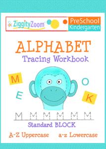 Alphabet Tracing Workbook- Preschool - Kindergarten