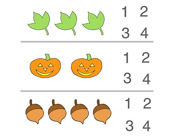 Number Names Worksheets fall worksheets : Fall Counting Preschool Worksheet